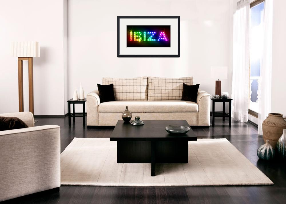 """Ibiza in Lights&quot  (2011) by ModernArtPrints"