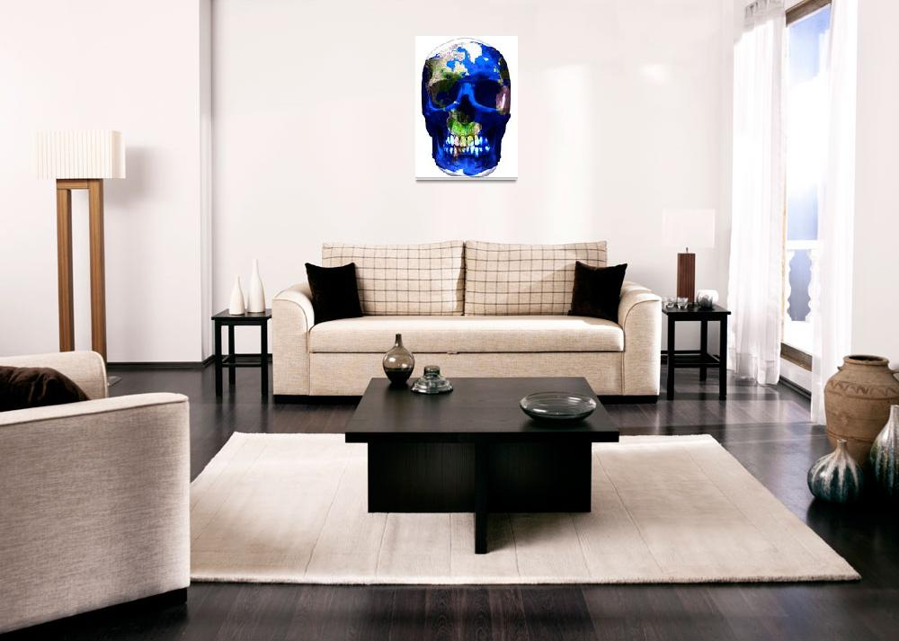 """""""""""Luxemyth"""" Earth skull""""  (2011) by O"""