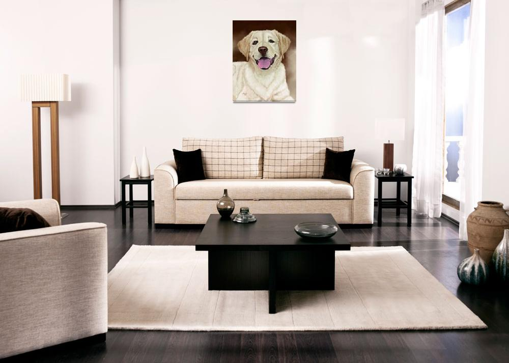 """""""Walker the Blond Lab&quot  by Tim"""