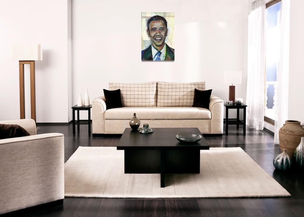 """Elect Barack Obama in 2008! Oil Pastel""  (2008) by noelhefele"