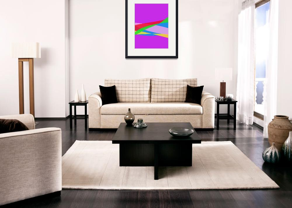 """""""Pink Purple Minimalism Abstract Art&quot  (2014) by masabo"""