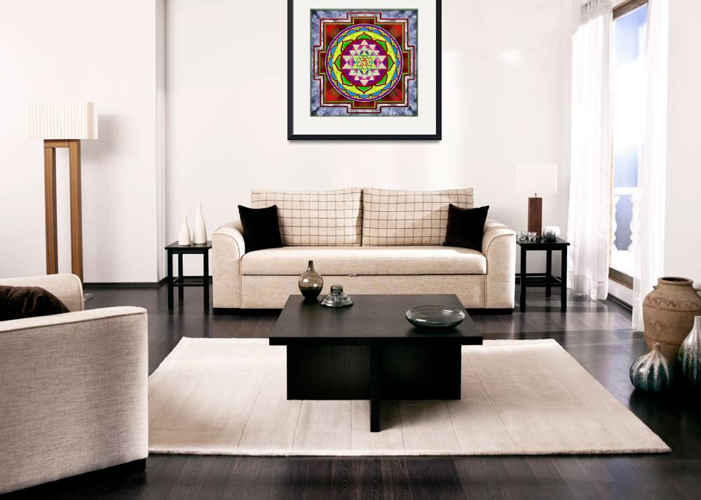 """Intuition Sri Yantra - Artwork 1""  by dcz"