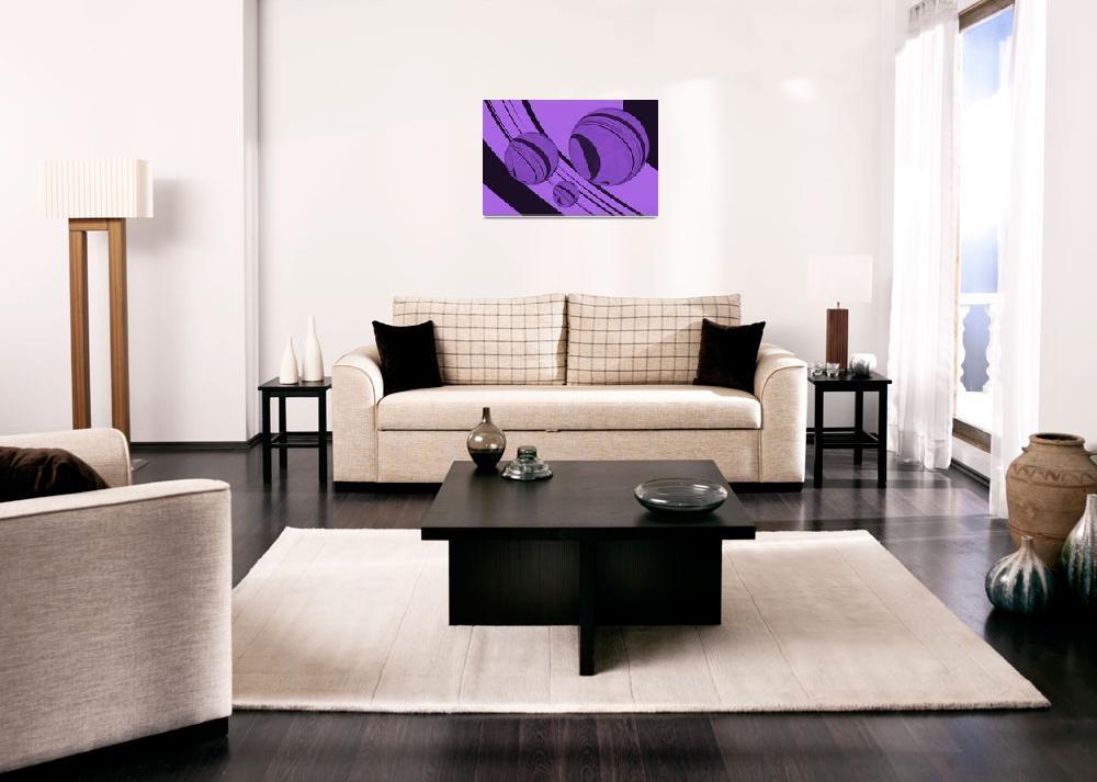 """Spheres Deco Series - Purple""  (2011) by WallArtDeco"
