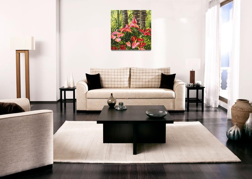 """Anthurium Celebration Hawaiian Flower Art""  by JennyFloravita"