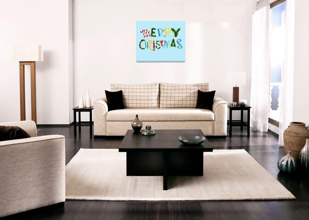 """""""Merry Christmas collage font&quot  by WrightCardandGift"""