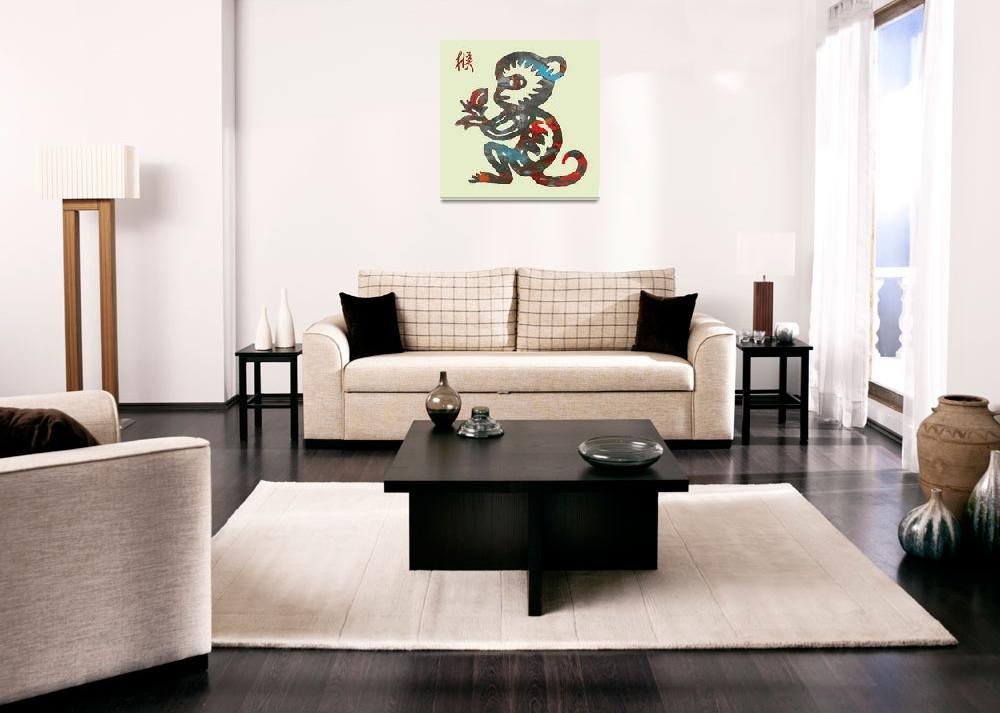 """""""The Chinese Lunar Year 12 Animal - Monkey Pop art""""  (2013) by visualharbour"""