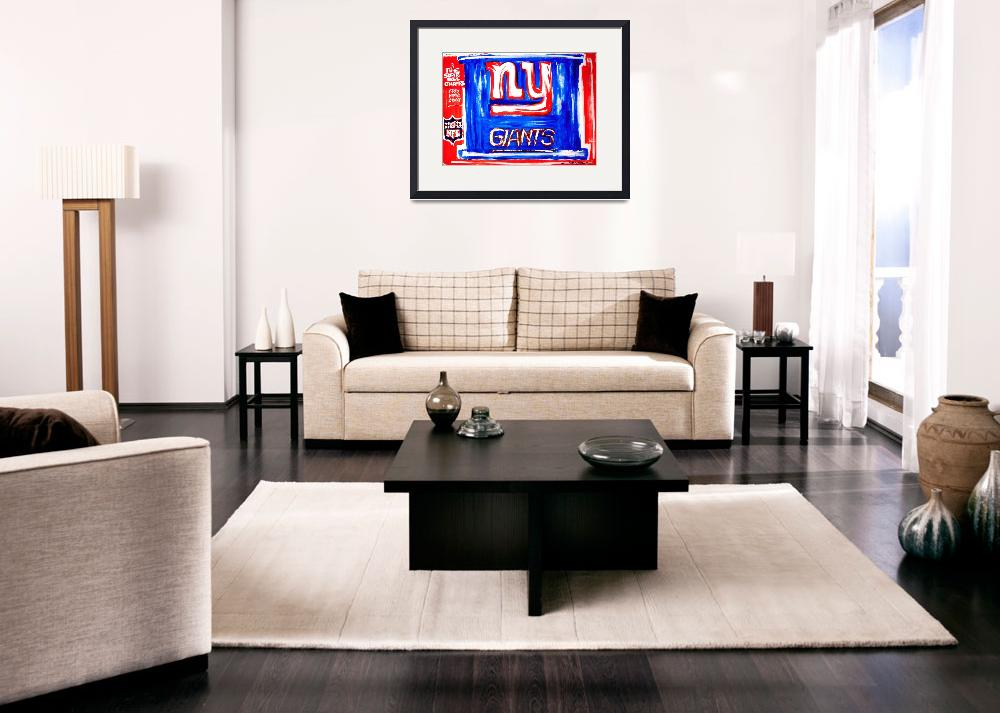 """NY GIANTS POSTER""  (2010) by USAprideBYjoyce"