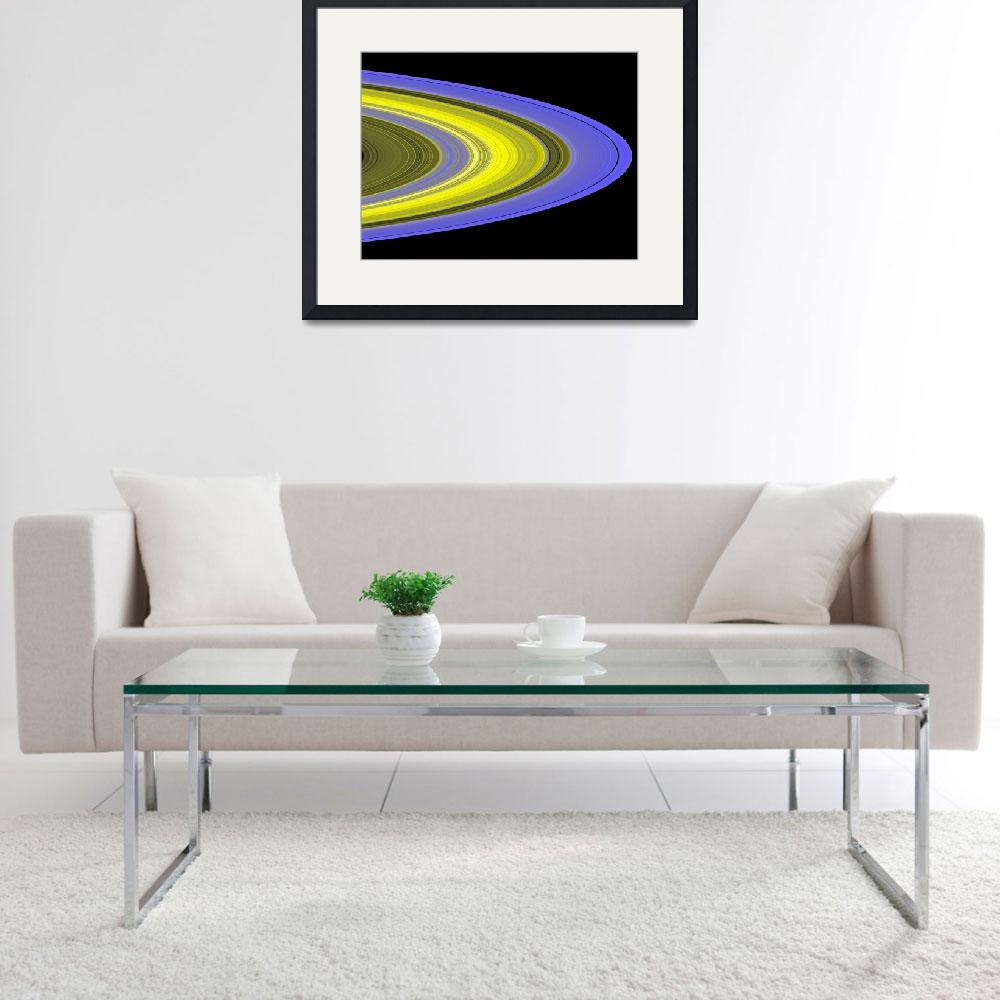 """""""Falsecolor image of Saturns rings&quot  by stocktrekimages"""