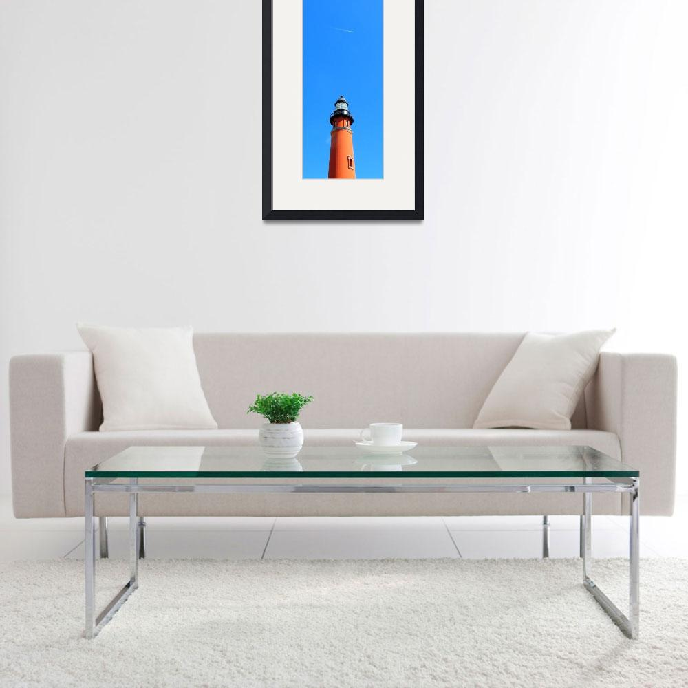 """""""Jet Over the Lighthouse&quot  (2009) by ChrisCrowley"""