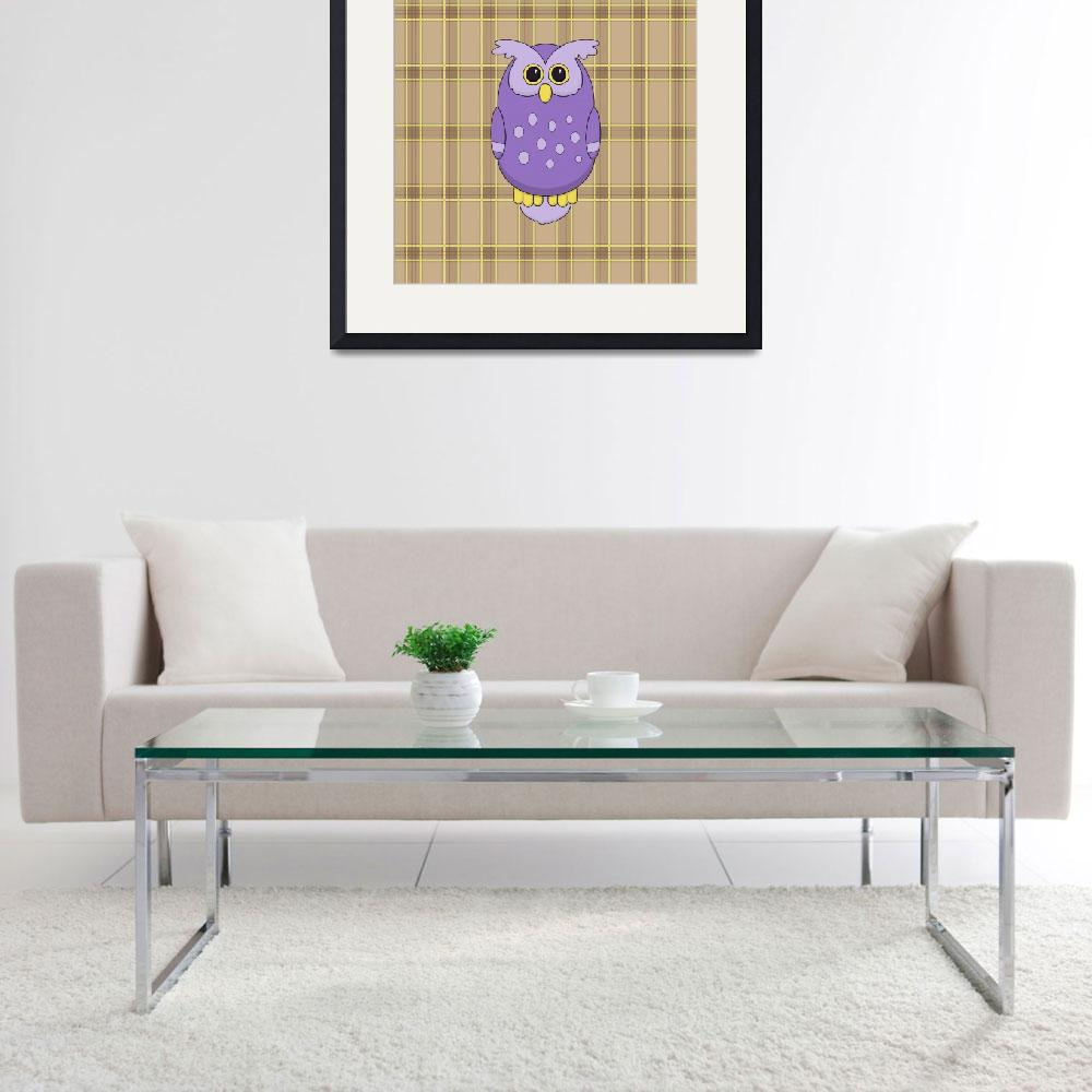"""""""Owl in Purple&quot  (2013) by InkFish"""