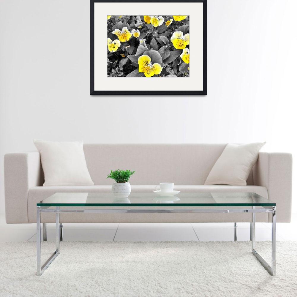 """""""Pansy in Yellow&quot  (2014) by SilverLeaf"""