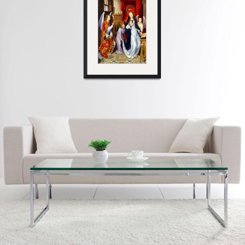 """""""Hans Memling The Annunciation&quot  by PDGraphics"""