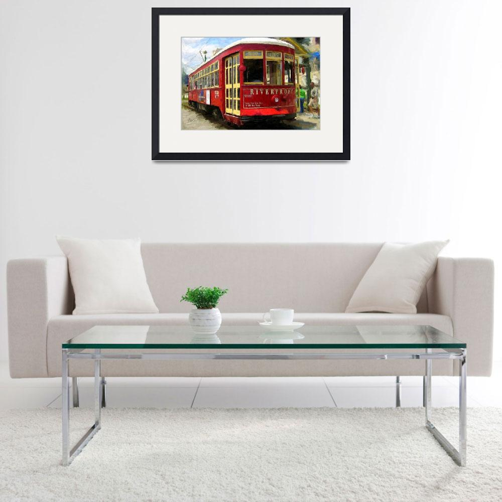 """""""French Quarter Trolley&quot  (2009) by knightvision"""
