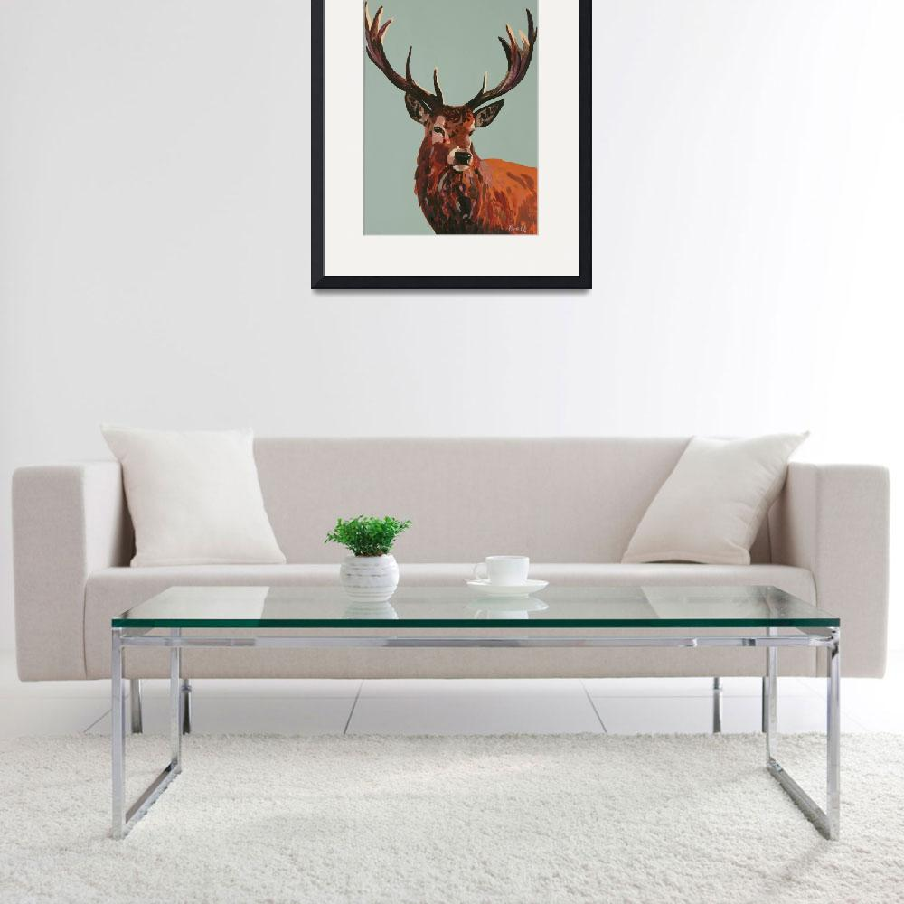"""""""Stag Blue&quot  (2016) by BrettHudsonArt"""