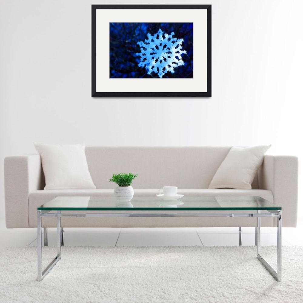 """""""snowflake in blue 5&quot  (2011) by dlmtleArt"""