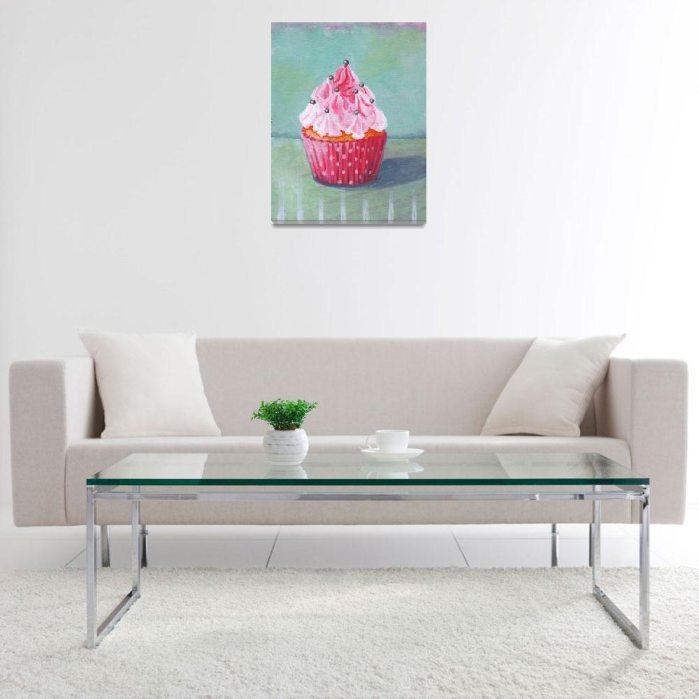 """Pink Mountain Cupcake""  (2013) by marcosivieri"