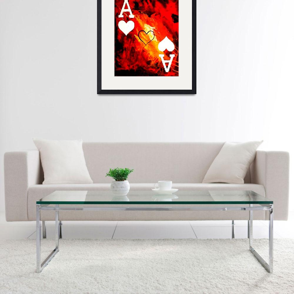 """""""ABSTRACT GALAXY ACES POKER ART OF HEARTS""""  by teofaith"""