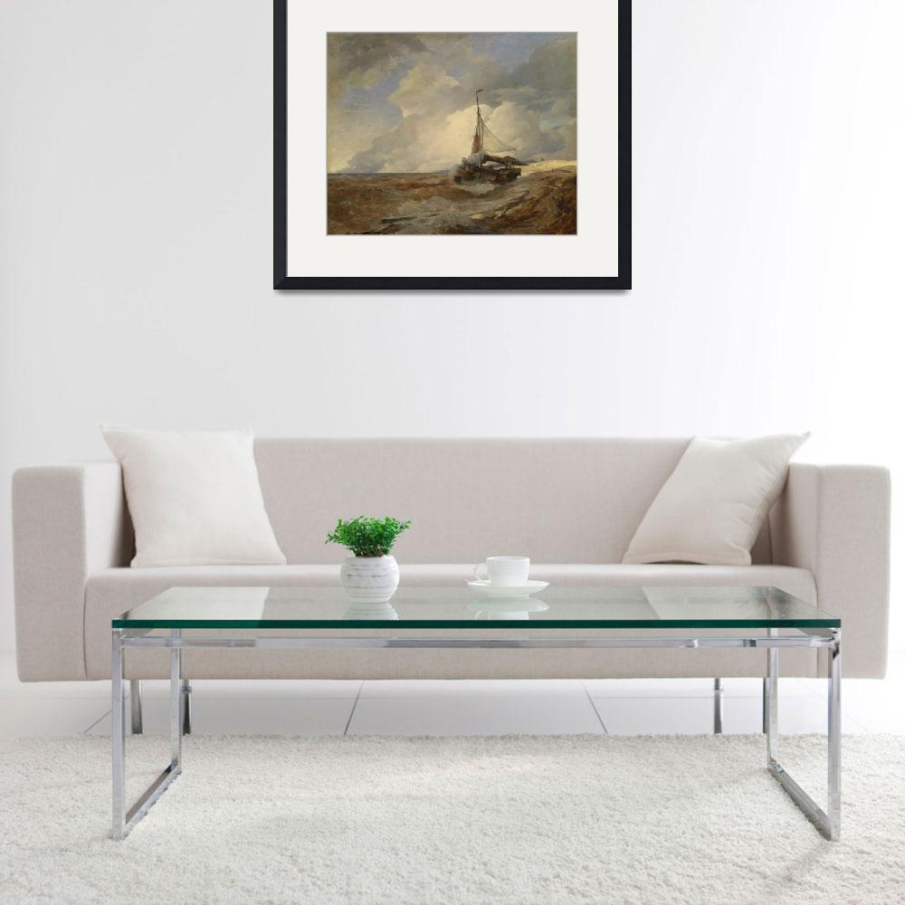 """Andreas Achenbach Art Framed Print&quot  by buddakats1"