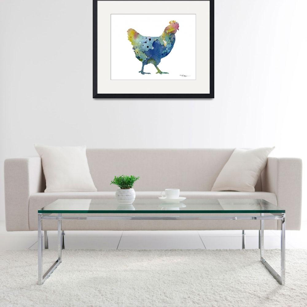 """Chicken&quot  (2015) by k9artgallery"