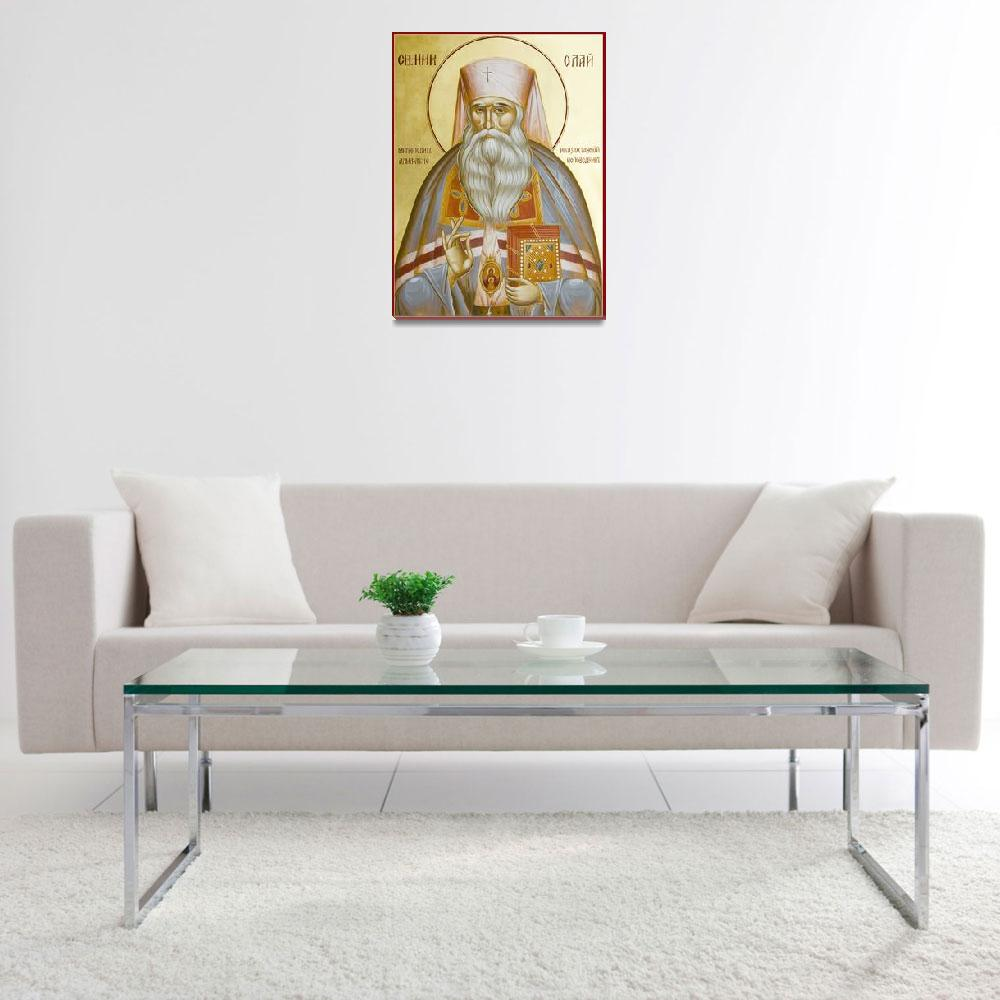 """""""St Nicholas the Confessor of Alma Ata and Kazakhst""""  (2010) by ikonographics"""