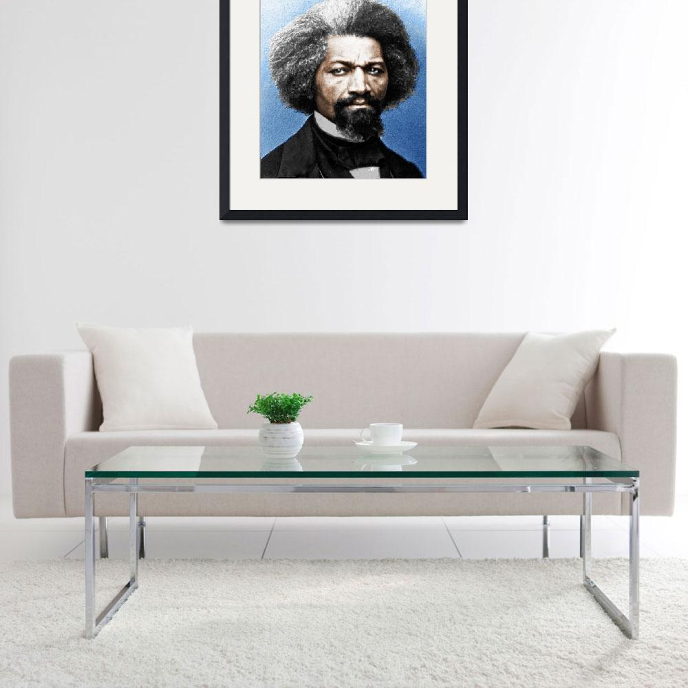 """""""Frederick Douglass Painting In Color""""  (2015) by RubinoFineArt"""