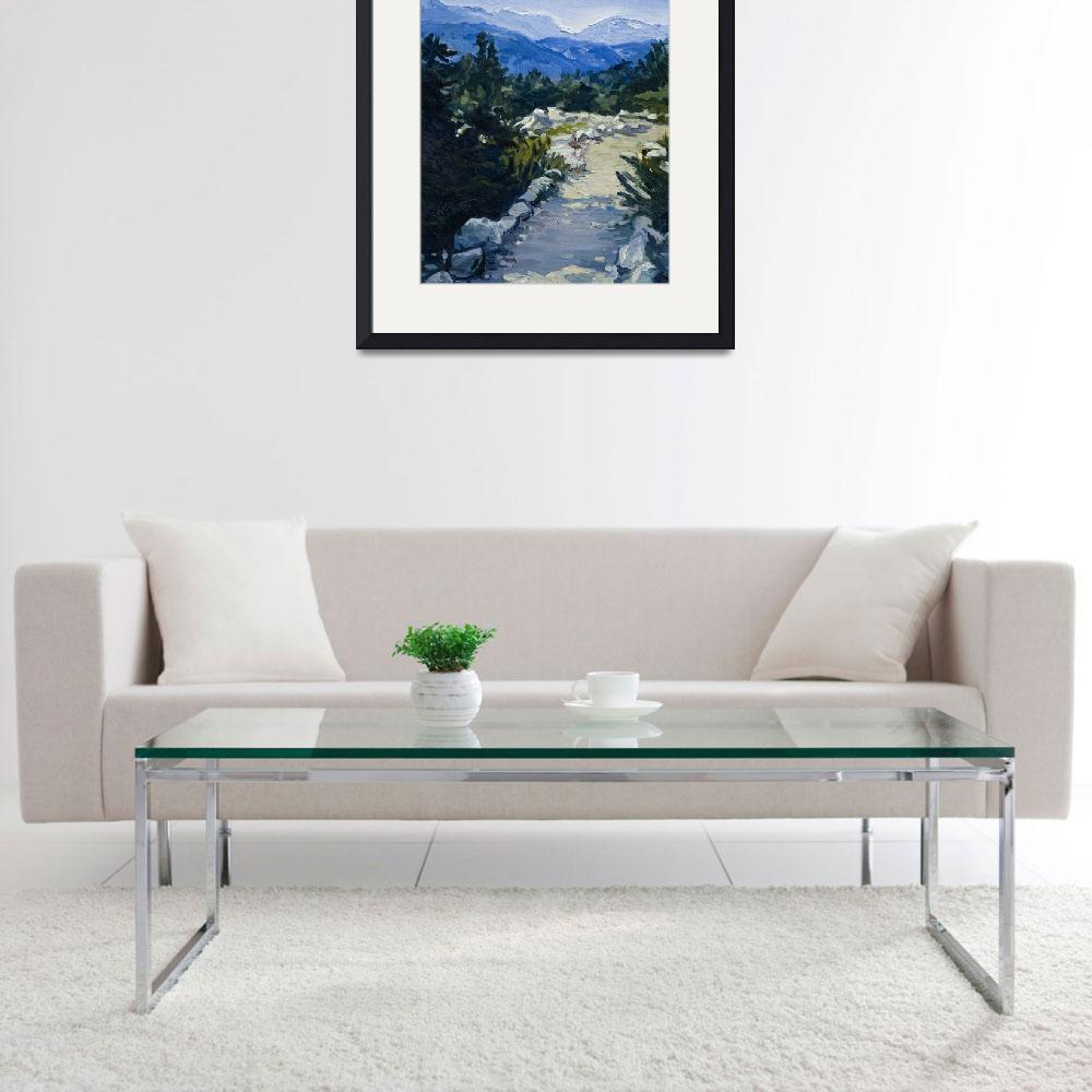 """Trail to Whistler Mountain, British Columbia Print""  (2007) by KeatingArt"