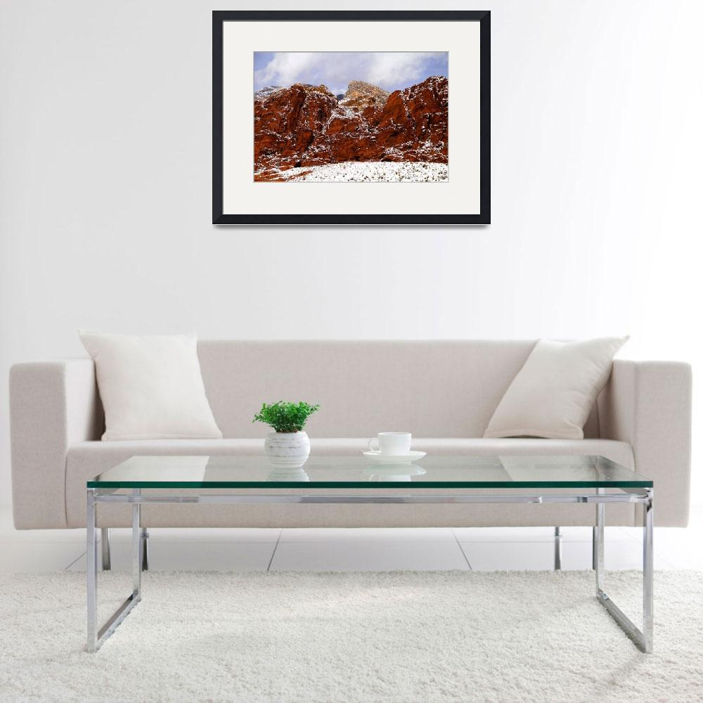 """""""Snow at Calico Hills&quot  (2008) by PadgettGallery"""