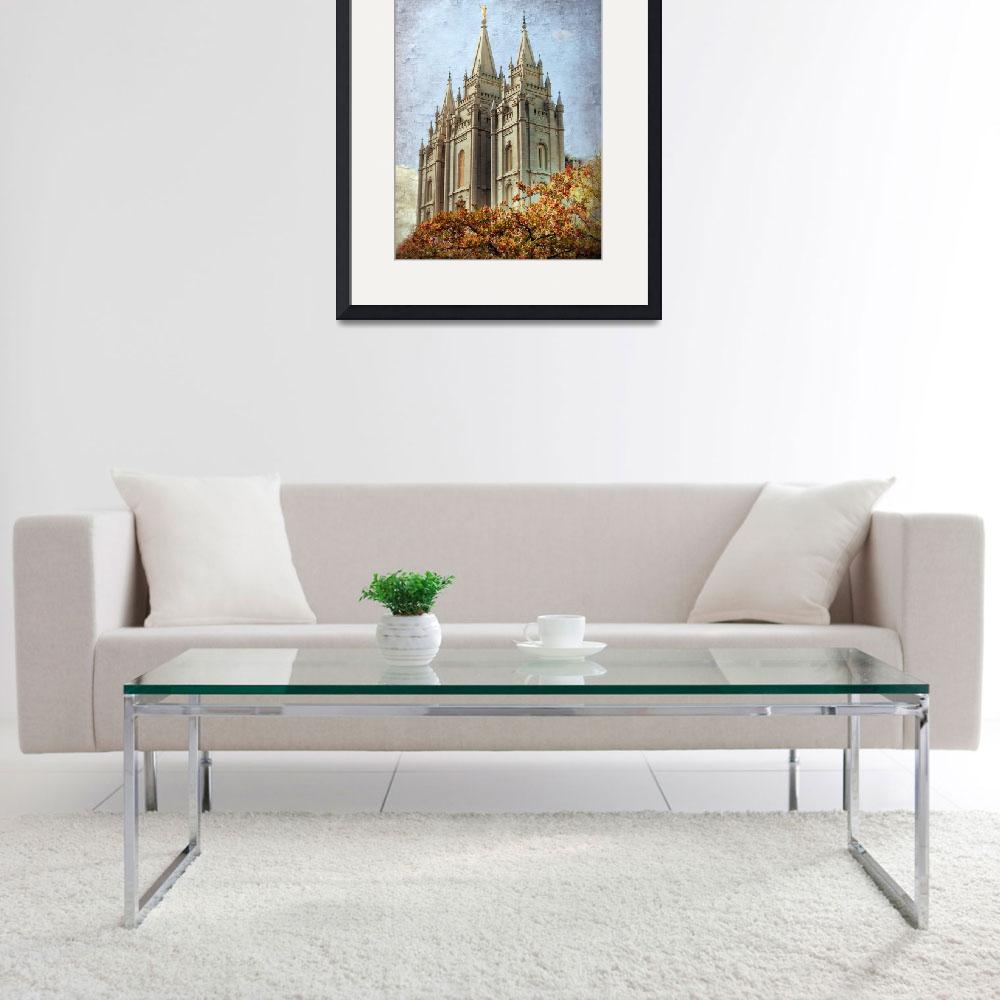 """Salt lake temple HDR with texture&quot  by houstonryan"