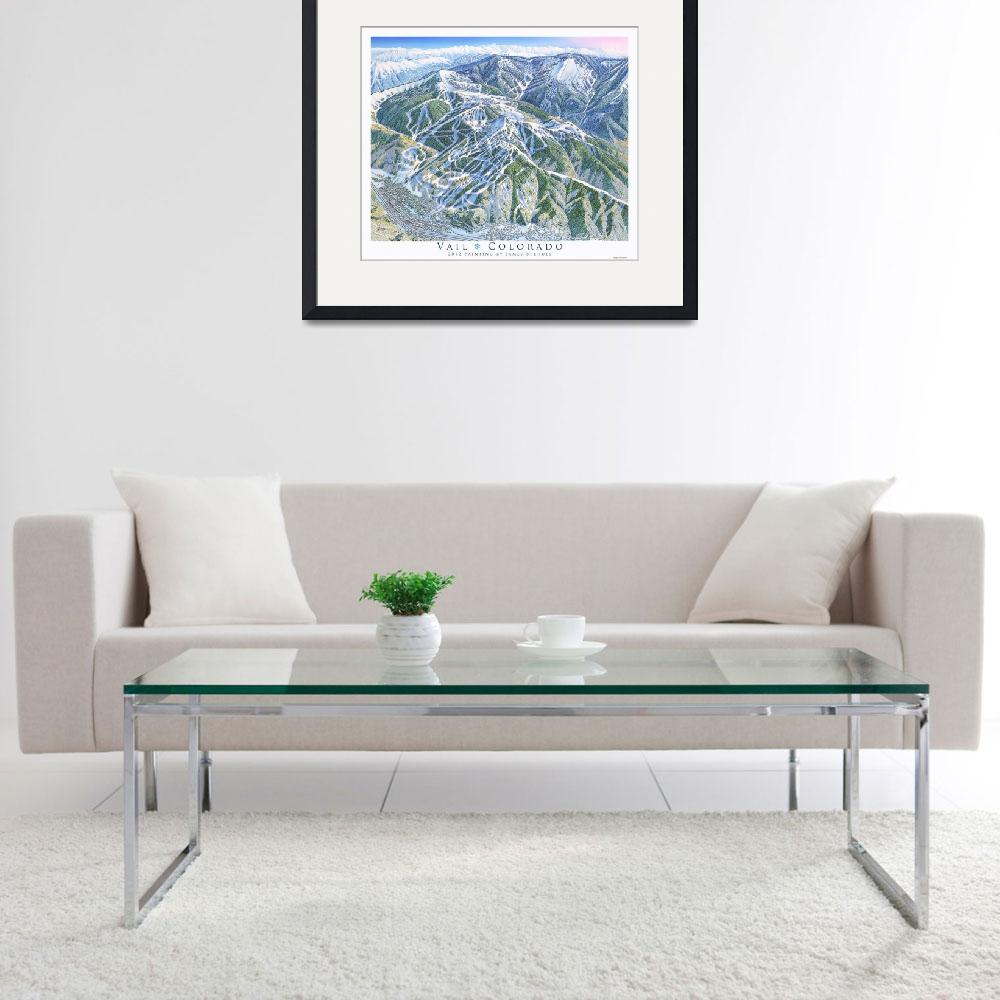 """""""Vail Mountain&quot  (2012) by jamesniehuesmaps"""