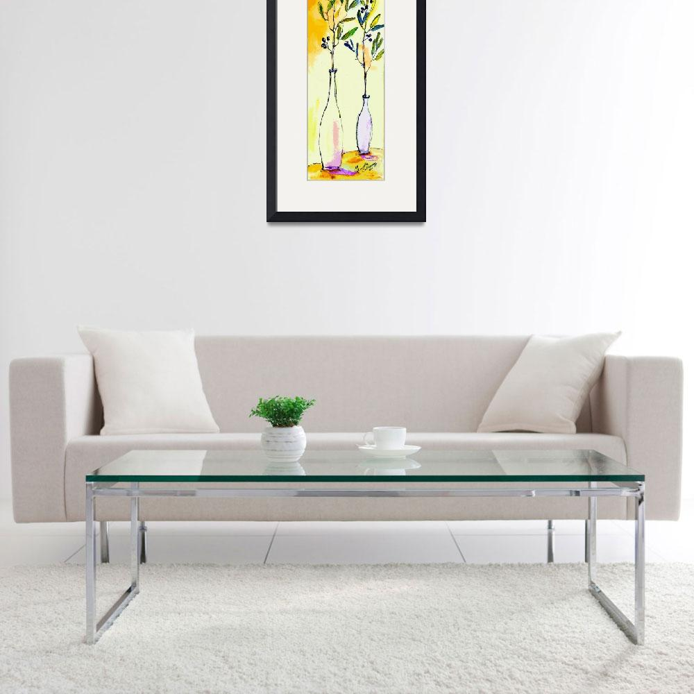 """Olive branches in Vase Modern Decor&quot  (2014) by GinetteCallaway"