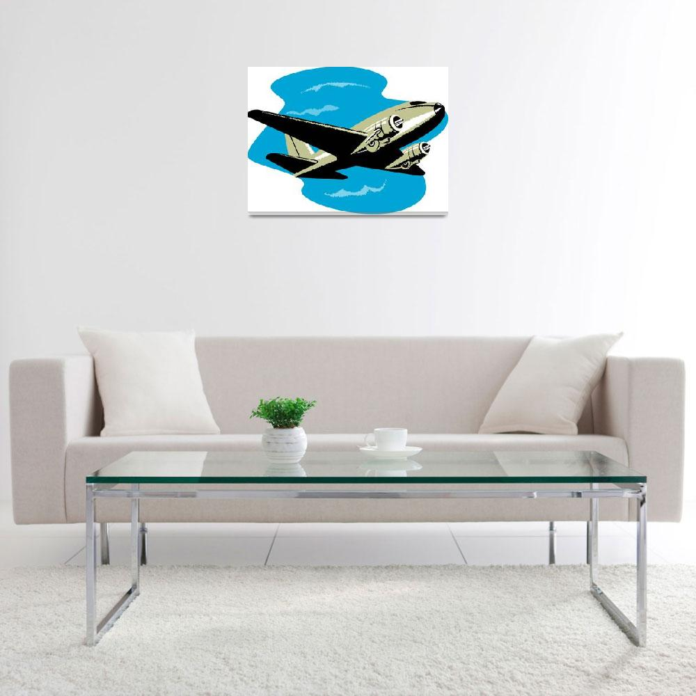 """""""propeller military airplane flying&quot  (2013) by patrimonio"""