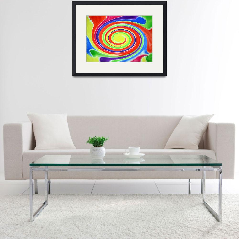"""""""Abstract Swirl A1 1215&quot  (2016) by MasArtStudio"""