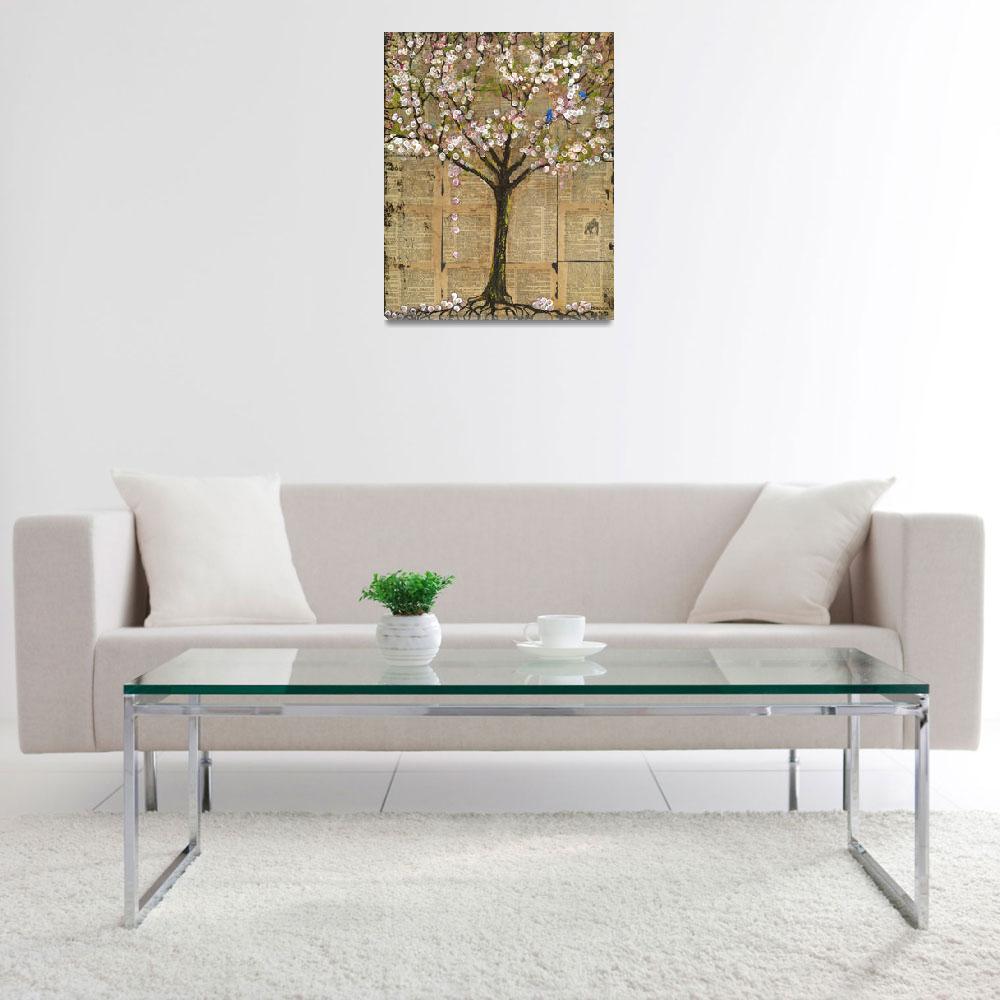 """Lexicon Tree 3 Art with Birds&quot  by BlendaStudio"