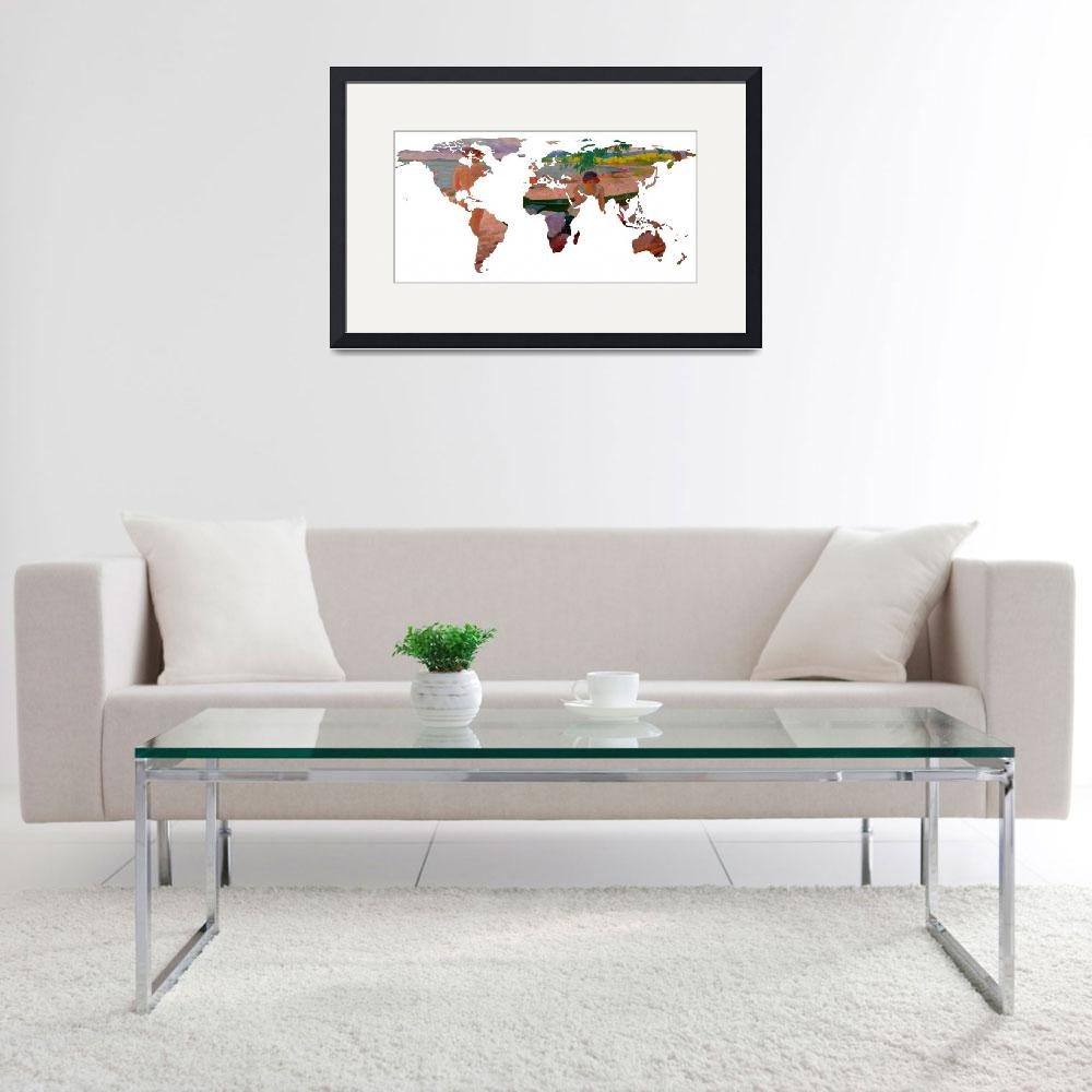 """""""World Map Silhouette - Undressing at The Beach&quot  by Alleycatshirts"""