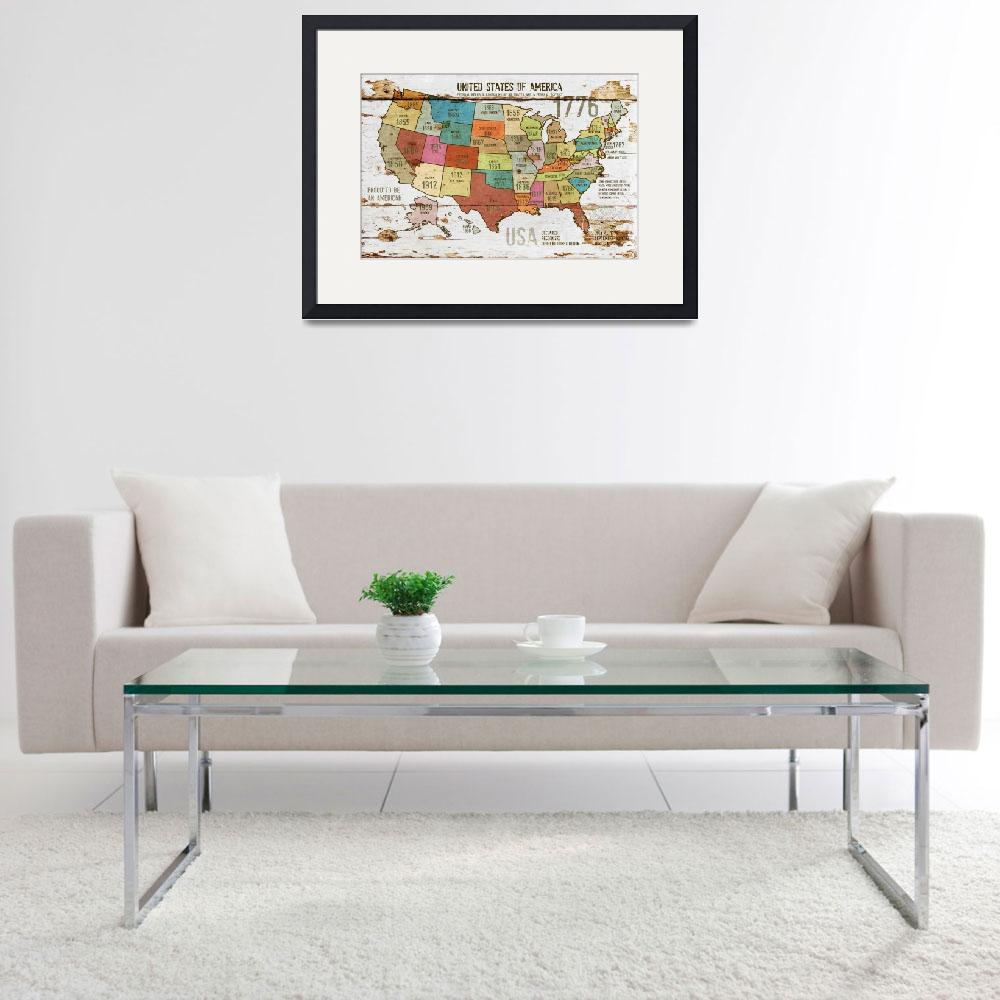 """""""27x39 NEW ORL-2989-3 The United States of America&quot  by Aneri"""