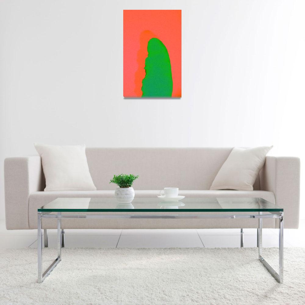 """""""Abstract Cactus&quot  (2016) by mroppx"""