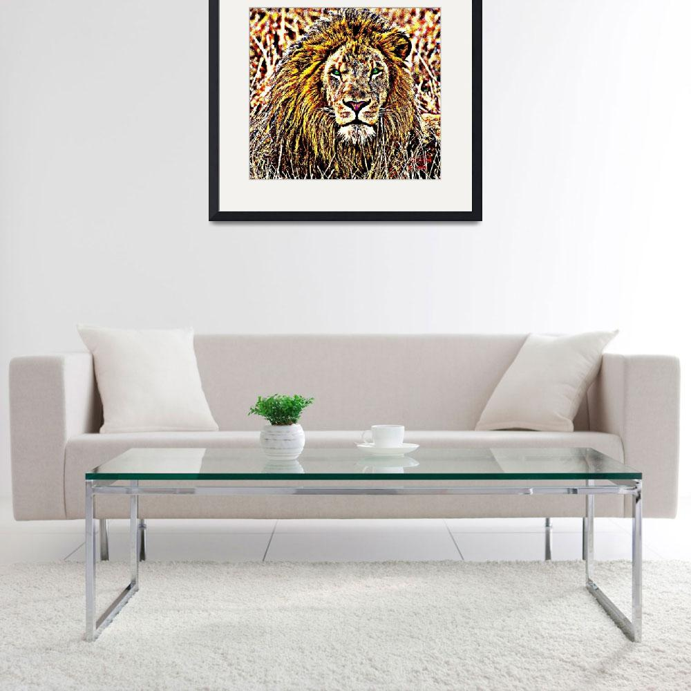 """""""Lion&quot  (2014) by davegafford"""