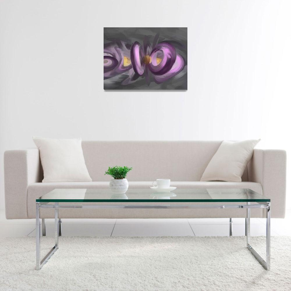"""""""Liquid Amethyst Pastel Abstract&quot  (2013) by AlexButler"""