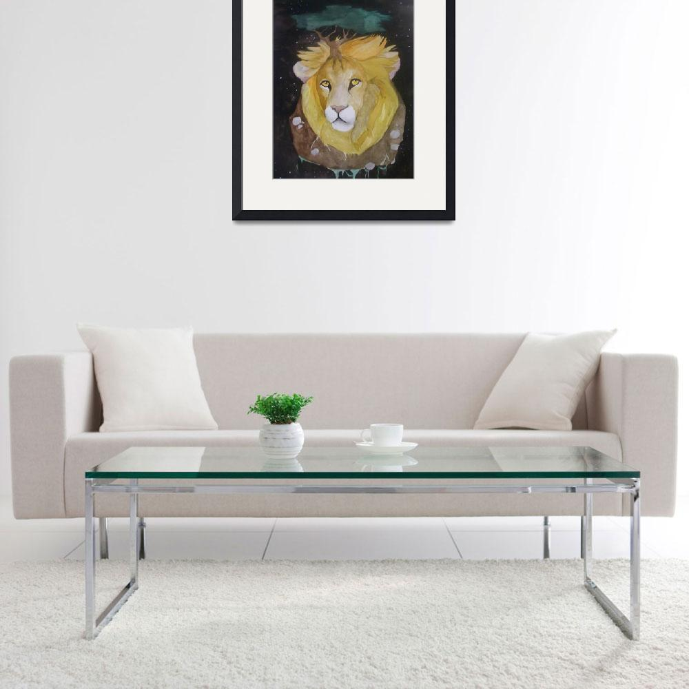 """""""Lion contemplative&quot  (2009) by amber1989"""