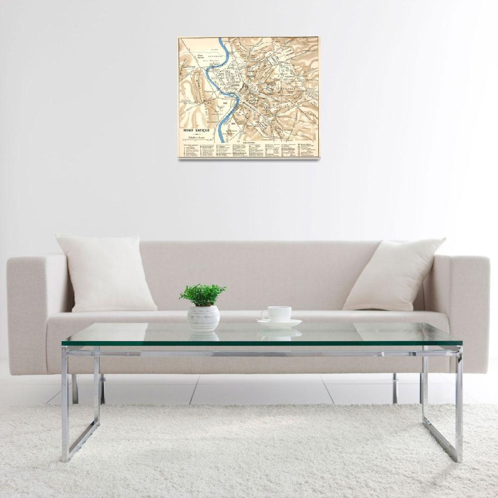 """""""Vintage Map of Rome Italy (1870)""""  by Alleycatshirts"""