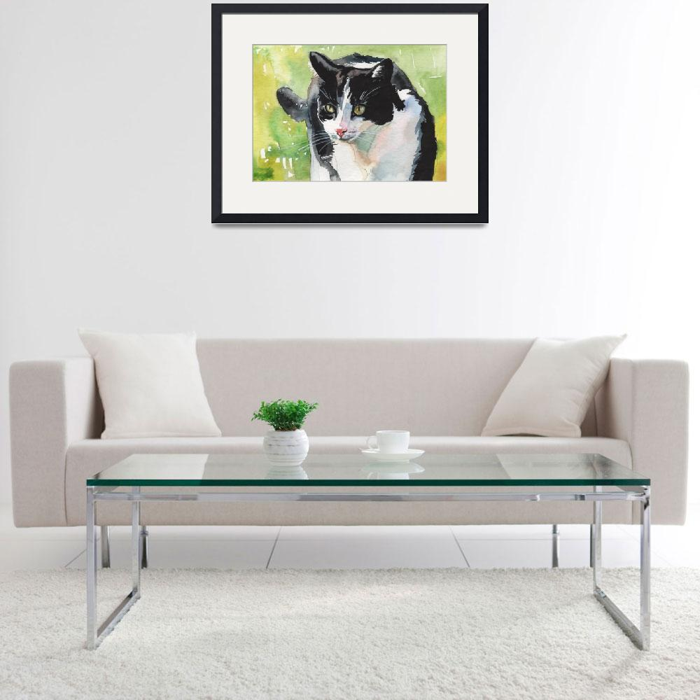 """""""Tuxedo Cat""""  (2014) by creativeartistic"""