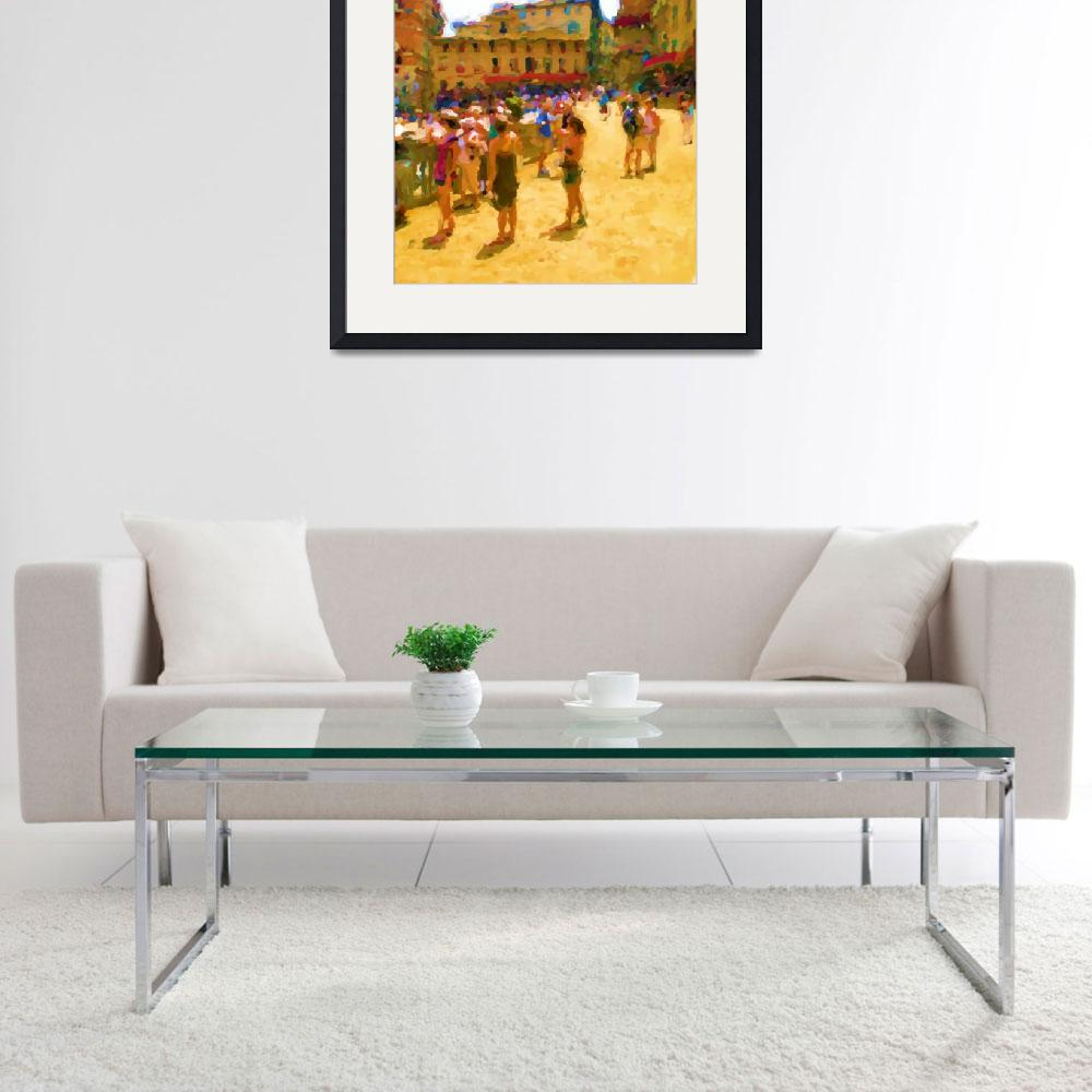 """""""Palio in Siena_Painting&quot  by Lonvig"""