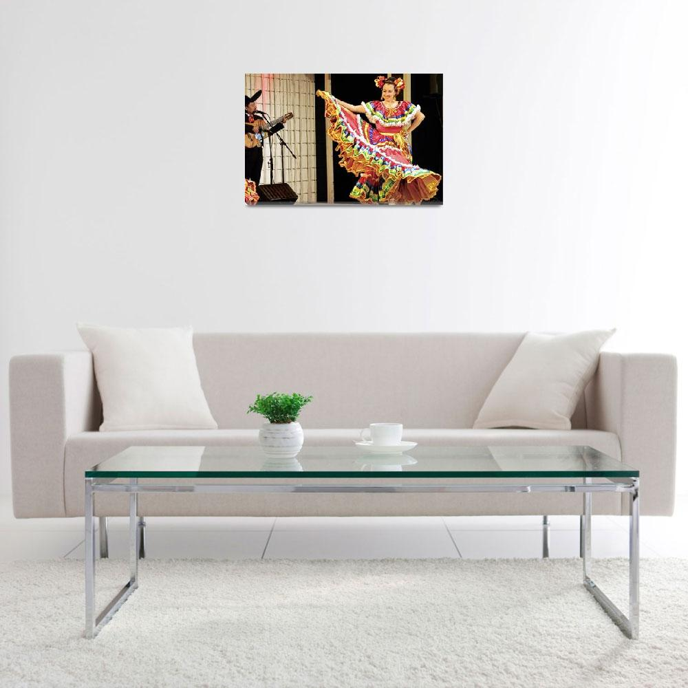 """""""Mexican Lady Performing Traditional Dance&quot  (2012) by WallArtDeco"""