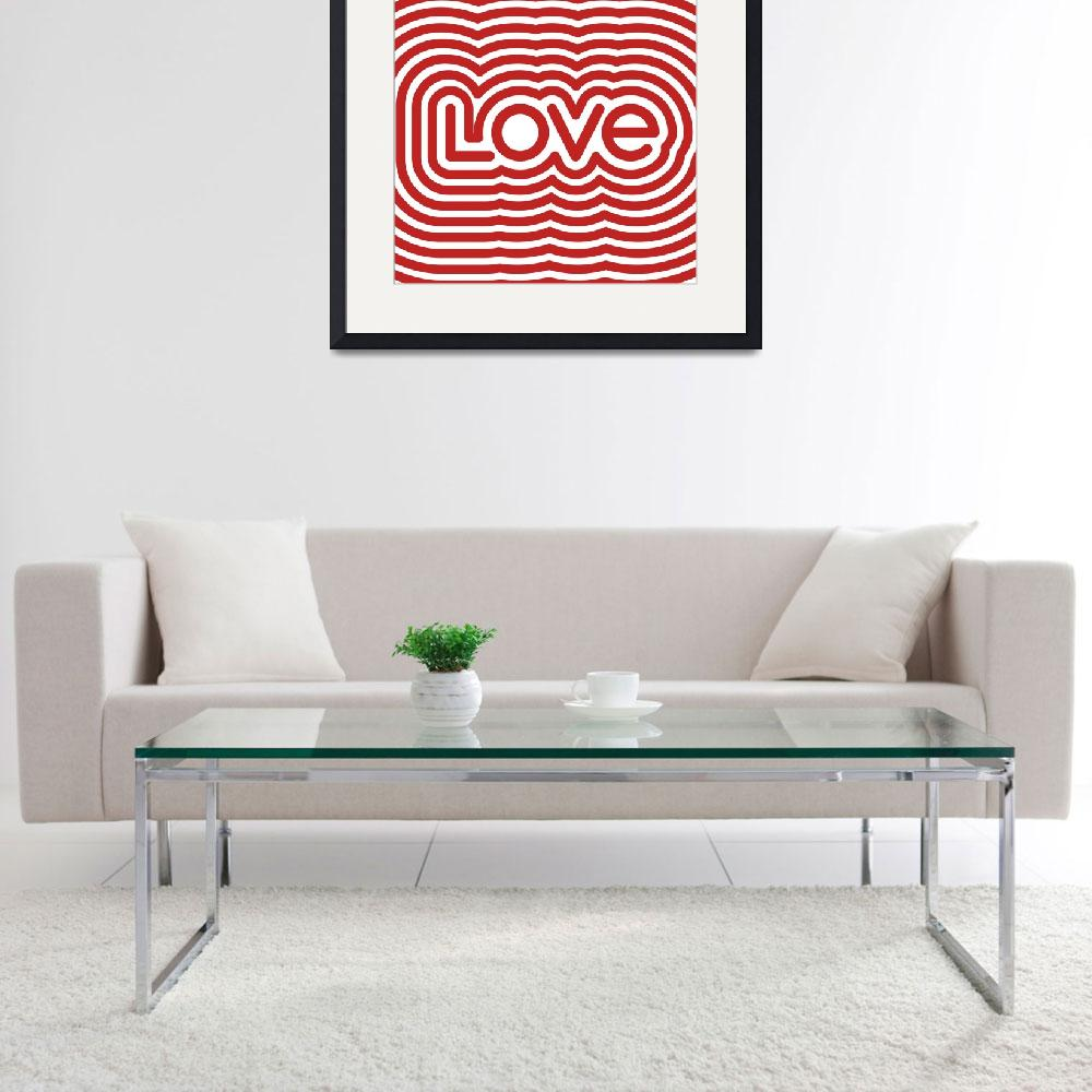 """Love Poster Square&quot  (2012) by jvorzimmer"
