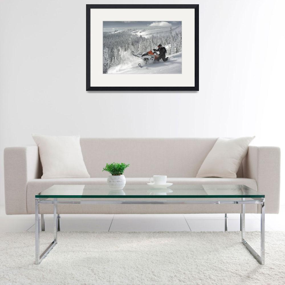 """""""Super Snowmobile Sidehilling&quot  by KalmbachPublishing"""