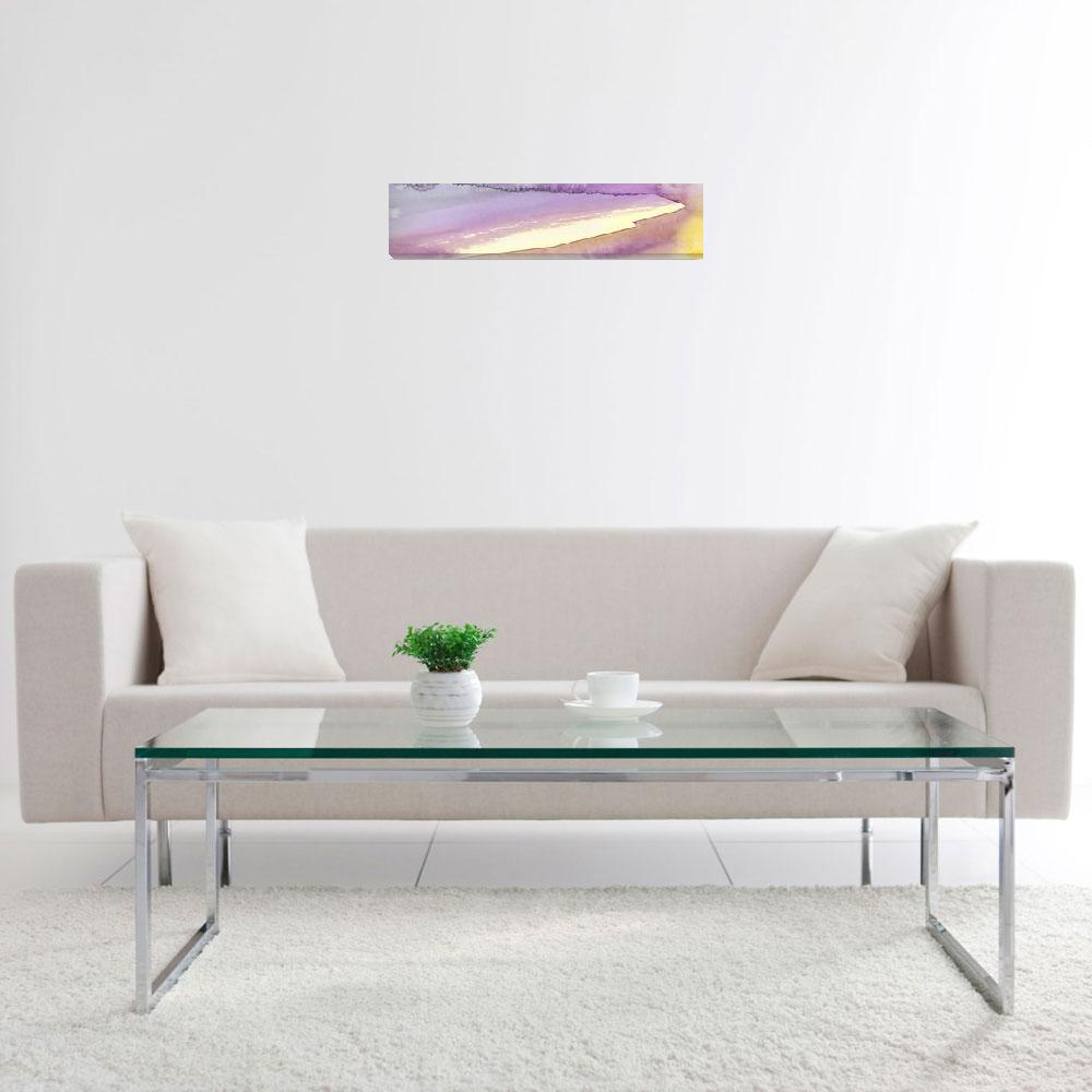 """""""Panoramic Watercolor abstract clouds 7""""  (2017) by GinetteCallaway"""