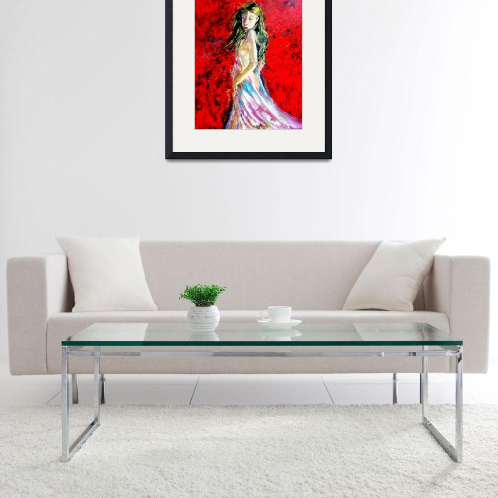 """""""Temptation-The Lady in Red&quot  (2014) by cneartgallery"""
