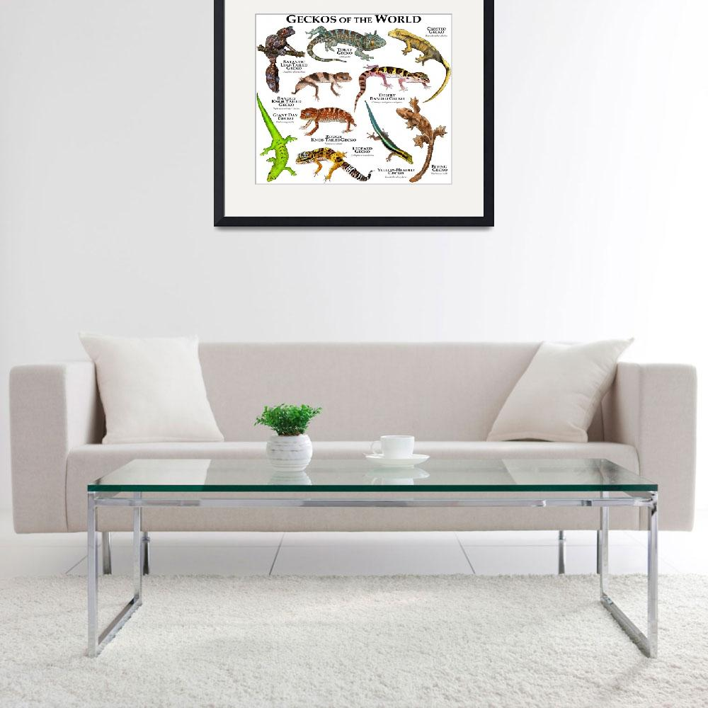 """""""Geckos of the World""""  by inkart"""