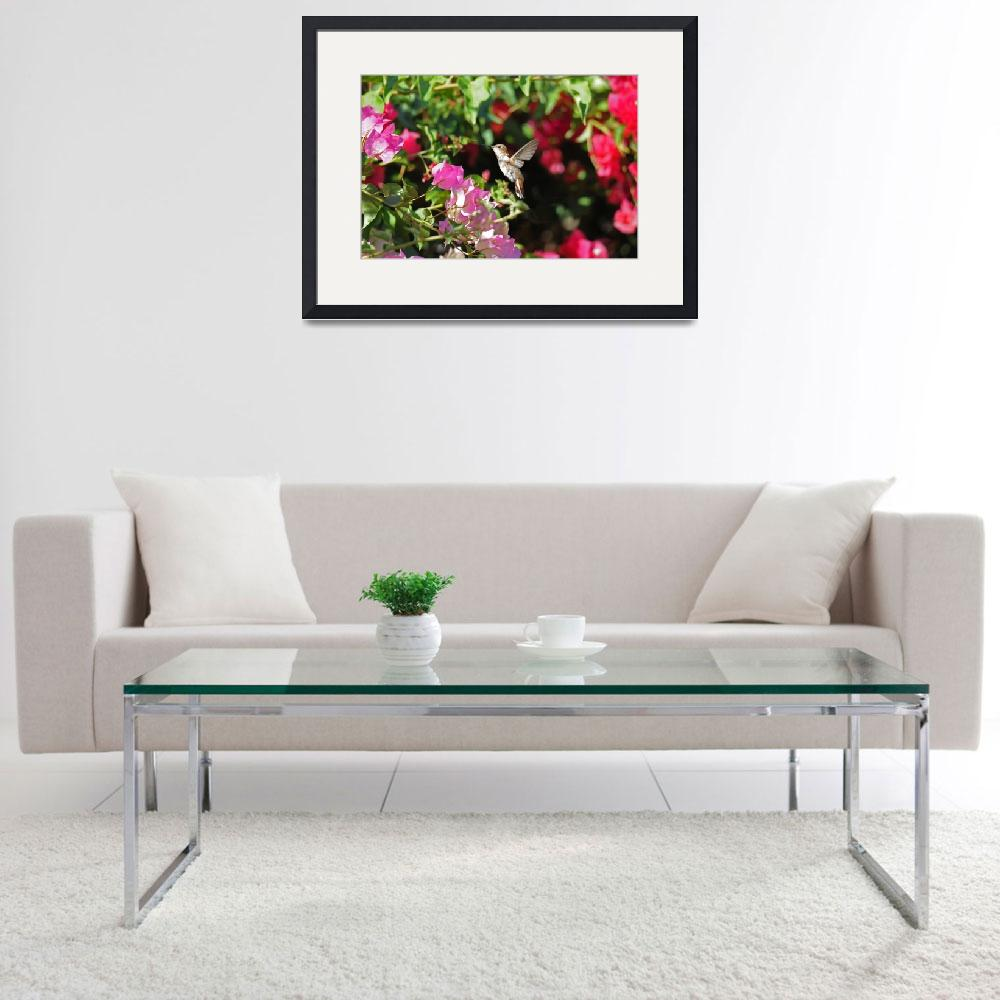 """""""Bougainvillea Hummer&quot  (2015) by LynnBauer"""