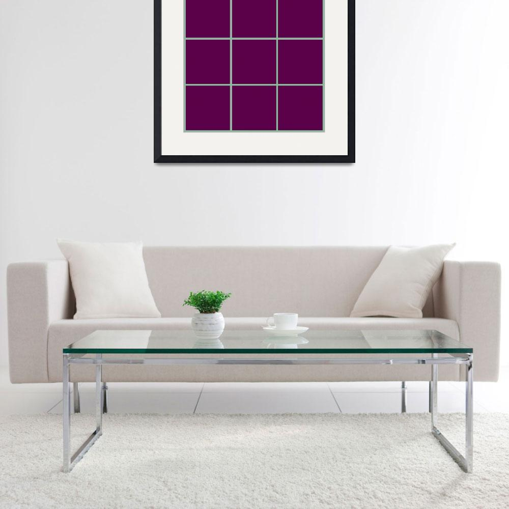"""""""Violet Window 190 Canvas Contemporary Modern&quot  (2010) by Ricardos"""